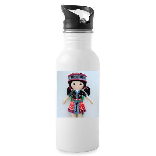 We love Karenin - Water bottle with straw