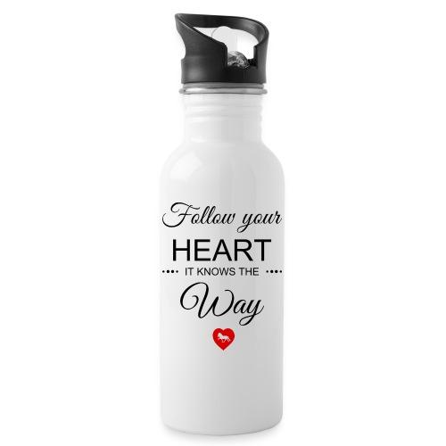 follow your heartbesser - Trinkflasche mit integriertem Trinkhalm