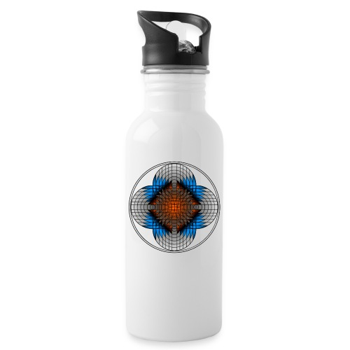 68 png - Water bottle with straw