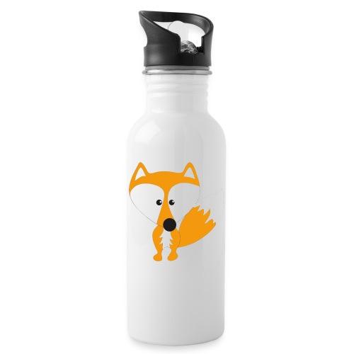 Mister Fuchs - Trinkflasche mit integriertem Trinkhalm