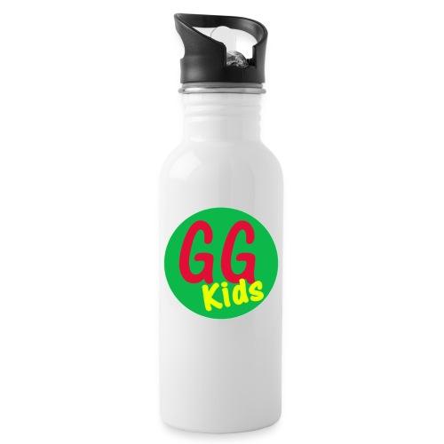 GG Kids Logo - Water bottle with straw