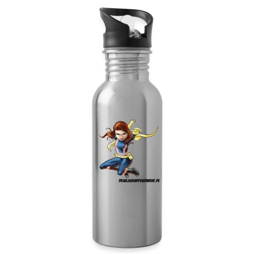 Hydro Girl - Trinkflasche mit integriertem Trinkhalm
