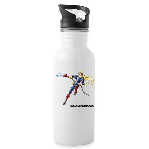 Captain Firefighter - Trinkflasche mit integriertem Trinkhalm