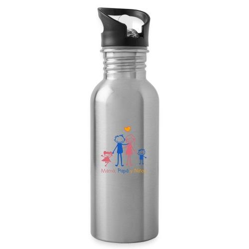 Mamá, Papá y Niños - Botella cantimplora con pajita integrada