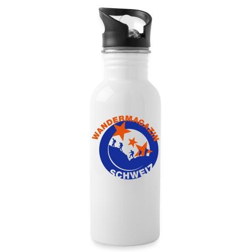 button kleider2 - Trinkflasche mit integriertem Trinkhalm