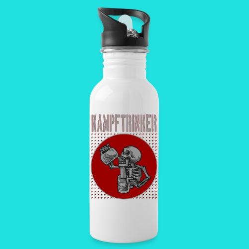 Kampftrinker - Trinkflasche mit integriertem Trinkhalm