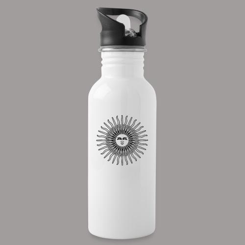 FOLK HORROR REVIVAL Black on white - Water bottle with straw