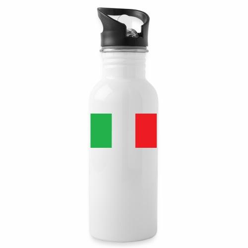 Italien Fußball - Trinkflasche mit integriertem Trinkhalm