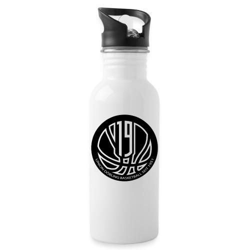 logo a neu - Trinkflasche mit integriertem Trinkhalm