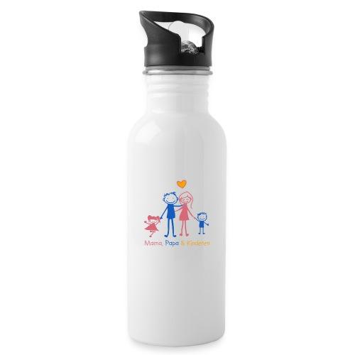 mama papa kinderen - Drinkfles met geïntegreerd rietje