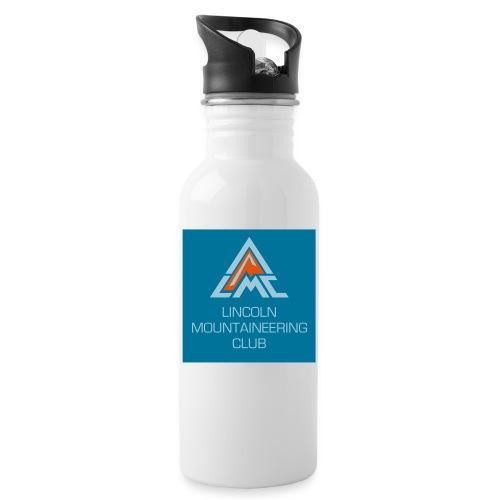 LMC Full Logo w back - Water bottle with straw