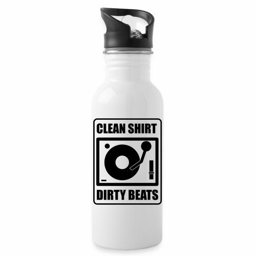 Clean Shirt Dirty Beats - Drinkfles met geïntegreerd rietje