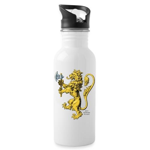 Den norske løve i gammel versjon - Drikkeflaske med integrert sugerør