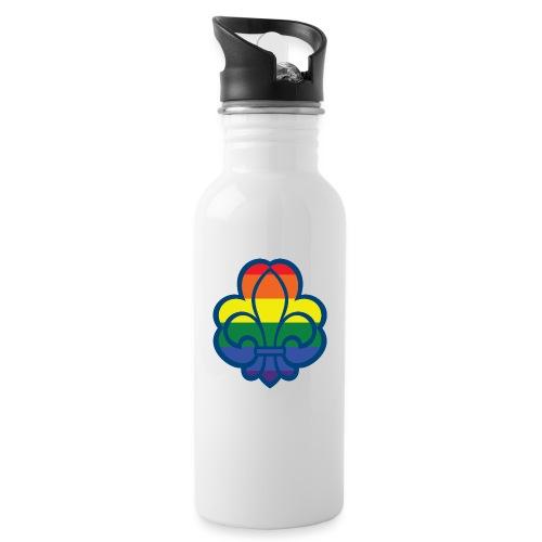 Regnbuespejder hvide t-shirts - Drikkeflaske med integreret sugerør