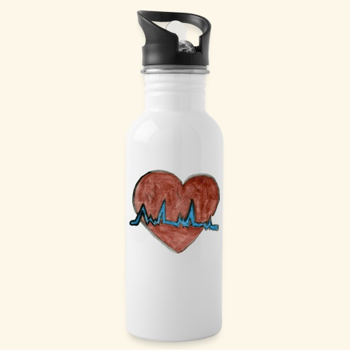 Cardio - Botella cantimplora con pajita integrada