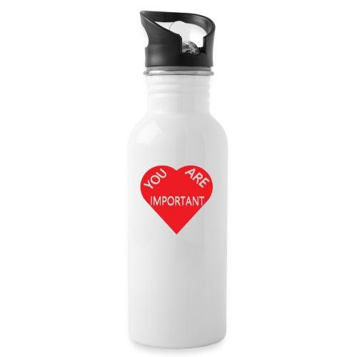 you are important - Drikkeflaske med integreret sugerør
