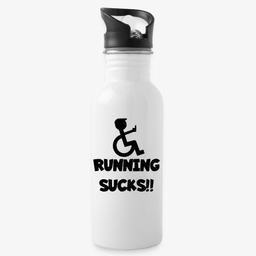 Rolstoel gebruikers haten rennen - Drinkfles met geïntegreerd rietje