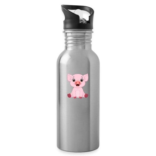 Mała świnka - Bidon z wbudowaną słomką