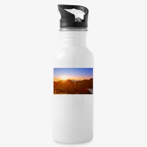 Sunset - Trinkflasche mit integriertem Trinkhalm