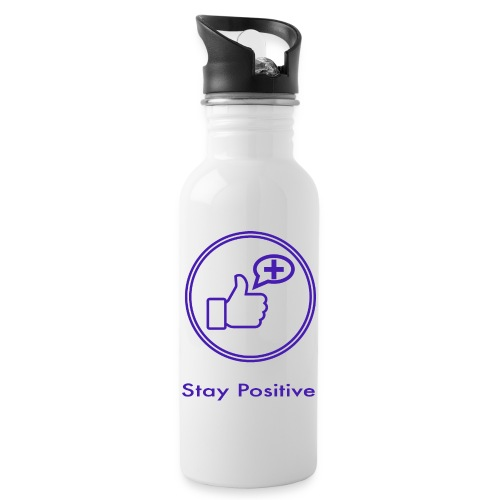 Stay Positive without inwils - Water bottle with straw