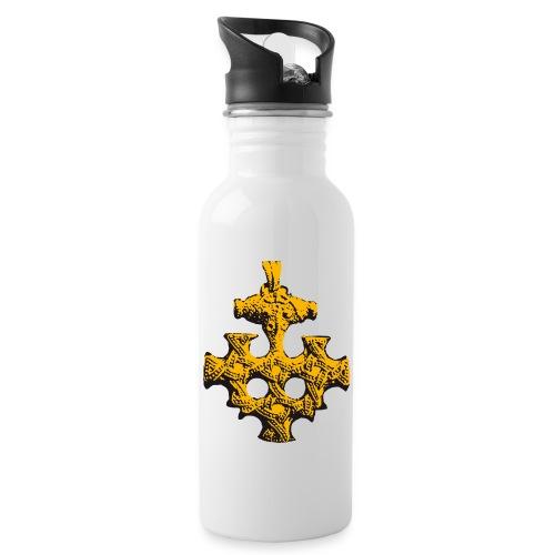 Goldschatz - Trinkflasche mit integriertem Trinkhalm