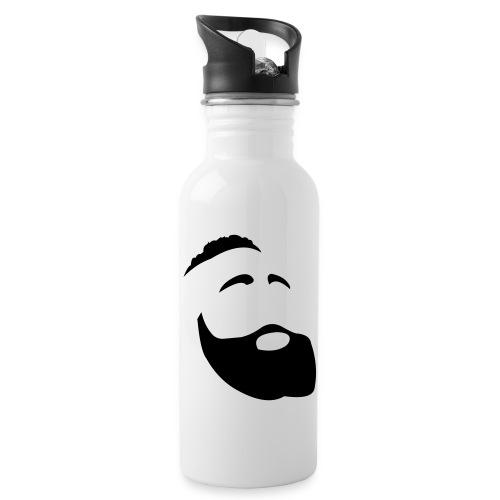 Il Barba, the Beard black - Borraccia con cannuccia integrata