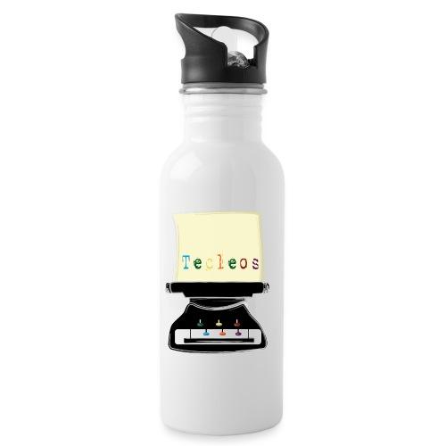tecleos - Botella cantimplora con pajita integrada