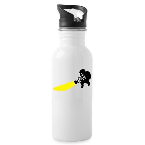 Dieb - Trinkflasche mit integriertem Trinkhalm