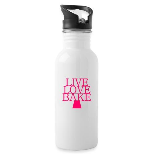 LiveLoveBake ekstra stor - Drikkeflaske med integreret sugerør