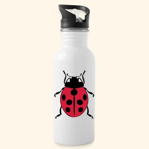 marienkaefer - Trinkflasche mit integriertem Trinkhalm