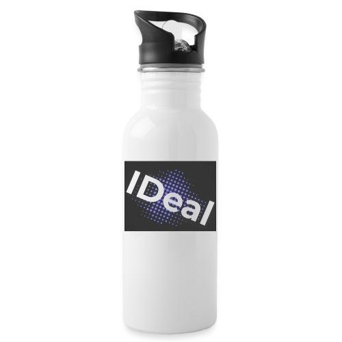 IDeal loggo - Vattenflaska med integrerat sugrör