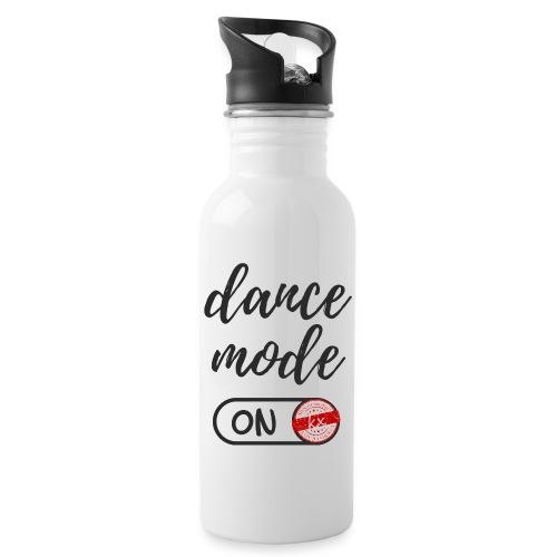 Shirt dance mode schw - Trinkflasche mit integriertem Trinkhalm