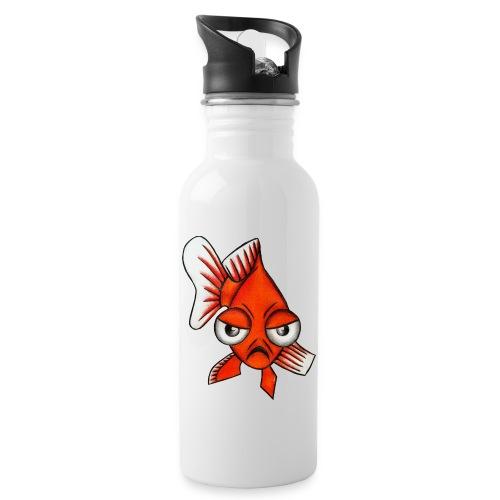 Angry Fish - Gourde avec paille intégrée