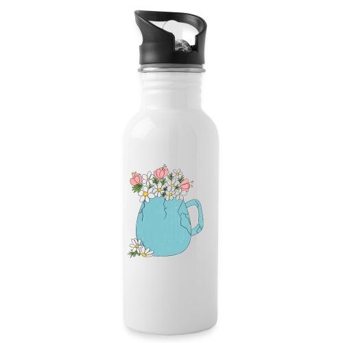 not broken - spring - Botella cantimplora con pajita integrada