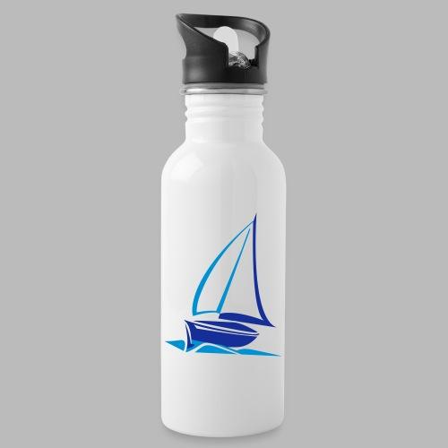 segelyacht - Trinkflasche mit integriertem Trinkhalm