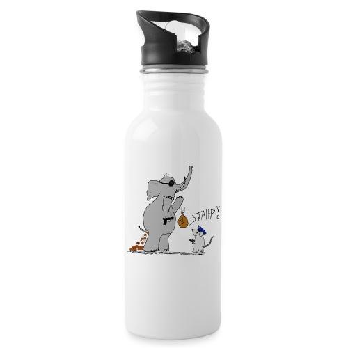 Bankraub Fail - Trinkflasche mit integriertem Trinkhalm