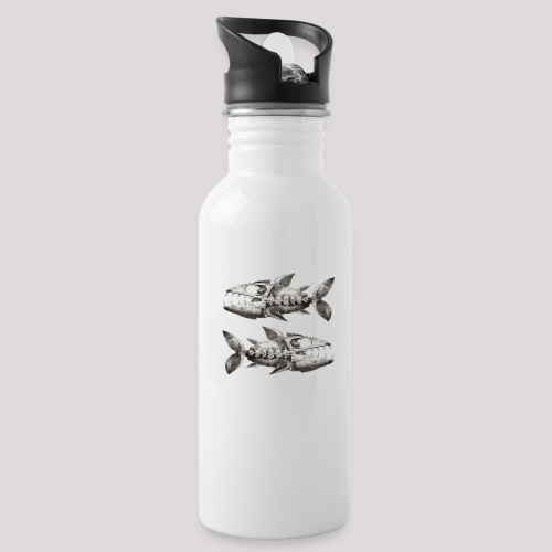 FishEtching - Water bottle with straw