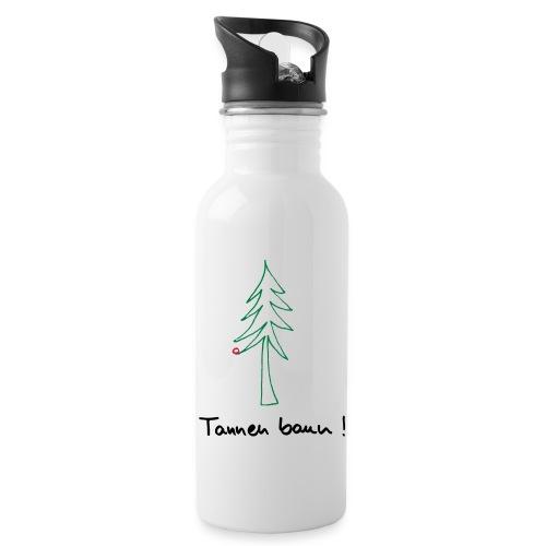 Tannen baun ! - Trinkflasche mit integriertem Trinkhalm