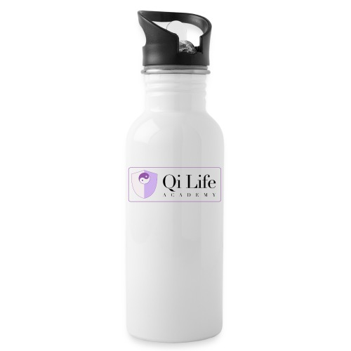 Qi Life Academy Promo Gear - Water bottle with straw