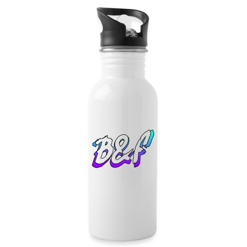 Purple and Blue Fade - Water bottle with straw