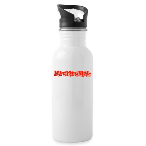 MvMvML logo - Drinkfles met geïntegreerd rietje