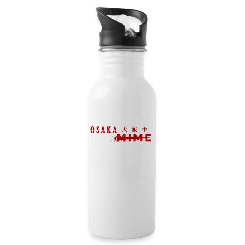 Osaka Mime Logo - Water bottle with straw