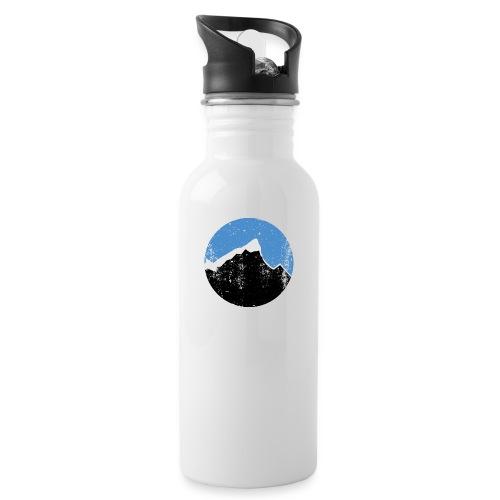 Årgangs - Drikkeflaske med integrert sugerør
