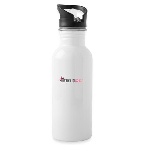 basica mujer - Botella cantimplora con pajita integrada