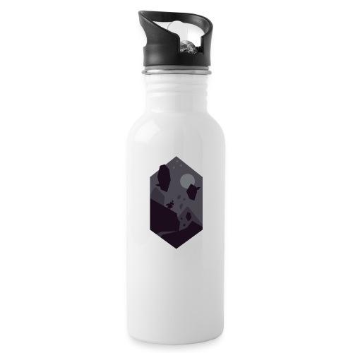 Valley Silhouette - Drikkeflaske med integrert sugerør