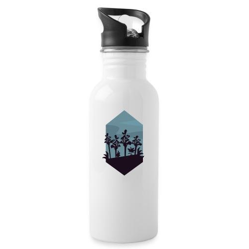 Jungle Silhouette - Drikkeflaske med integrert sugerør