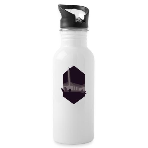 Cave Silhouette - Drikkeflaske med integrert sugerør
