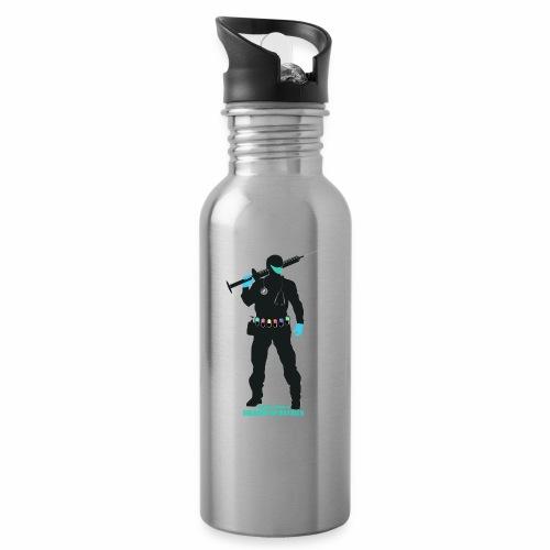 Nuestros Heroes - Botella cantimplora con pajita integrada