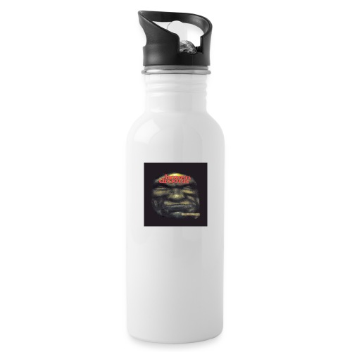 Hoven Grov knapp - Water bottle with straw