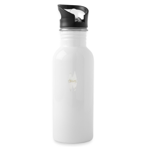 MELWILL white - Water bottle with straw